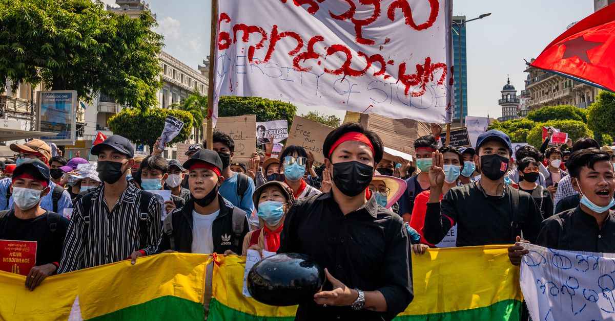 www.vox.com: Tens of thousands rise up against the coup in Myanmar
