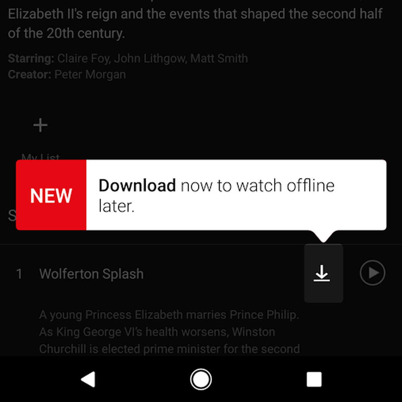 """Netflix now has a """"download"""" feature for offline viewing - Vox"""