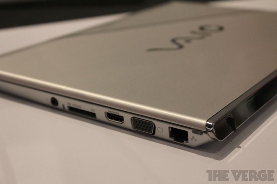 sony vaio ultrabook prototype shown behind glass   the verge