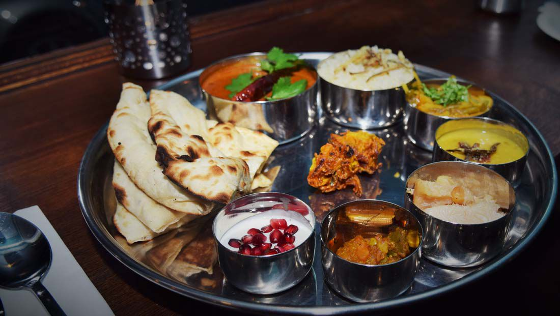 Thali at Thali and Pickles, one of Balham's best restaurants