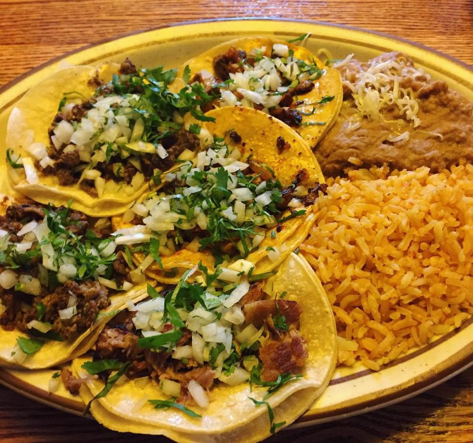 tacos rice and beans
