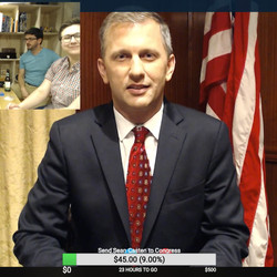 Sean Casten, a Democrat running for the 6th Congressional District seat, joined the livestream to chat about his debate performance. | Twitch