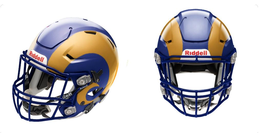 La Rams Fashion Draft Hats Prototype Helmets Color Rush
