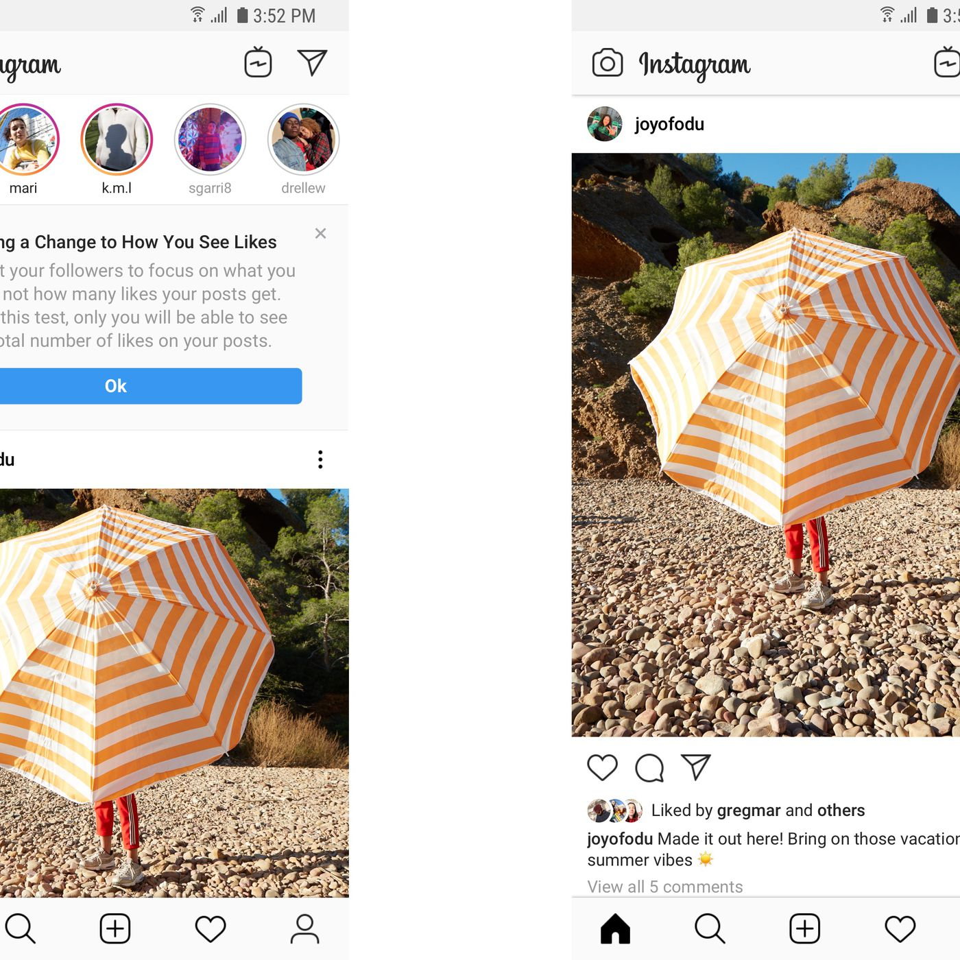 Instagram will test hiding public like counts in Canada - The Verge
