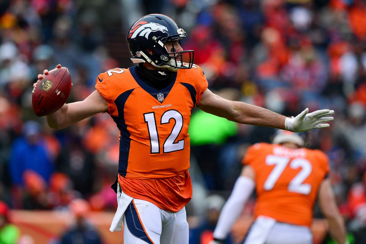 100% authentic 30451 c61d6 Broncos give a vote of confidence to quarterbacks Paxton ...
