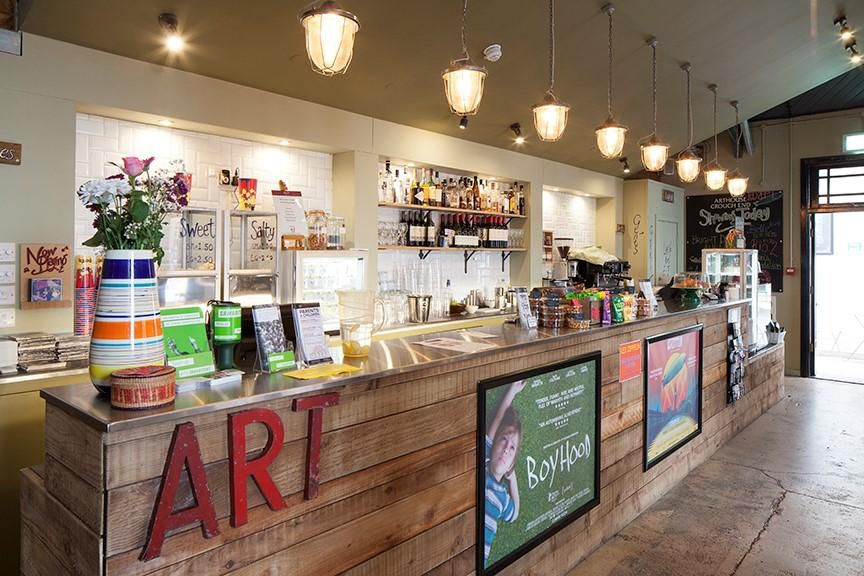 The cafe and bar at Arthouse Crouch End, one of the best places for cinema food in London