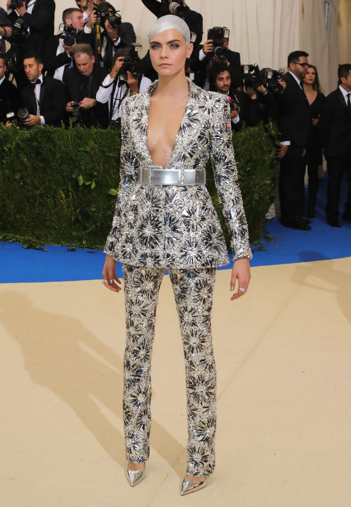 Cara Delevingne attends the 'Rei Kawakubo/Comme des Garcons: Art Of The In-Between' Costume Institute Gala at Metropolitan Museum of Art on May 1, 2017 in New York City.