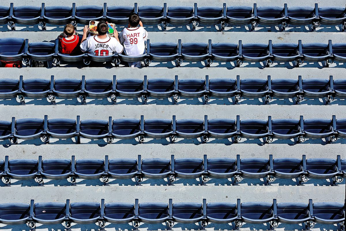 It was a sitting room only crowd today in Atlanta to watch the First Place Braves