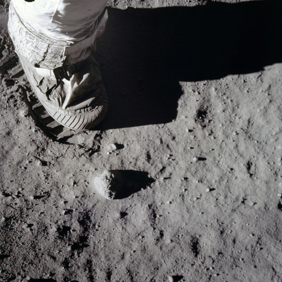 Astronaut footprint on the moon