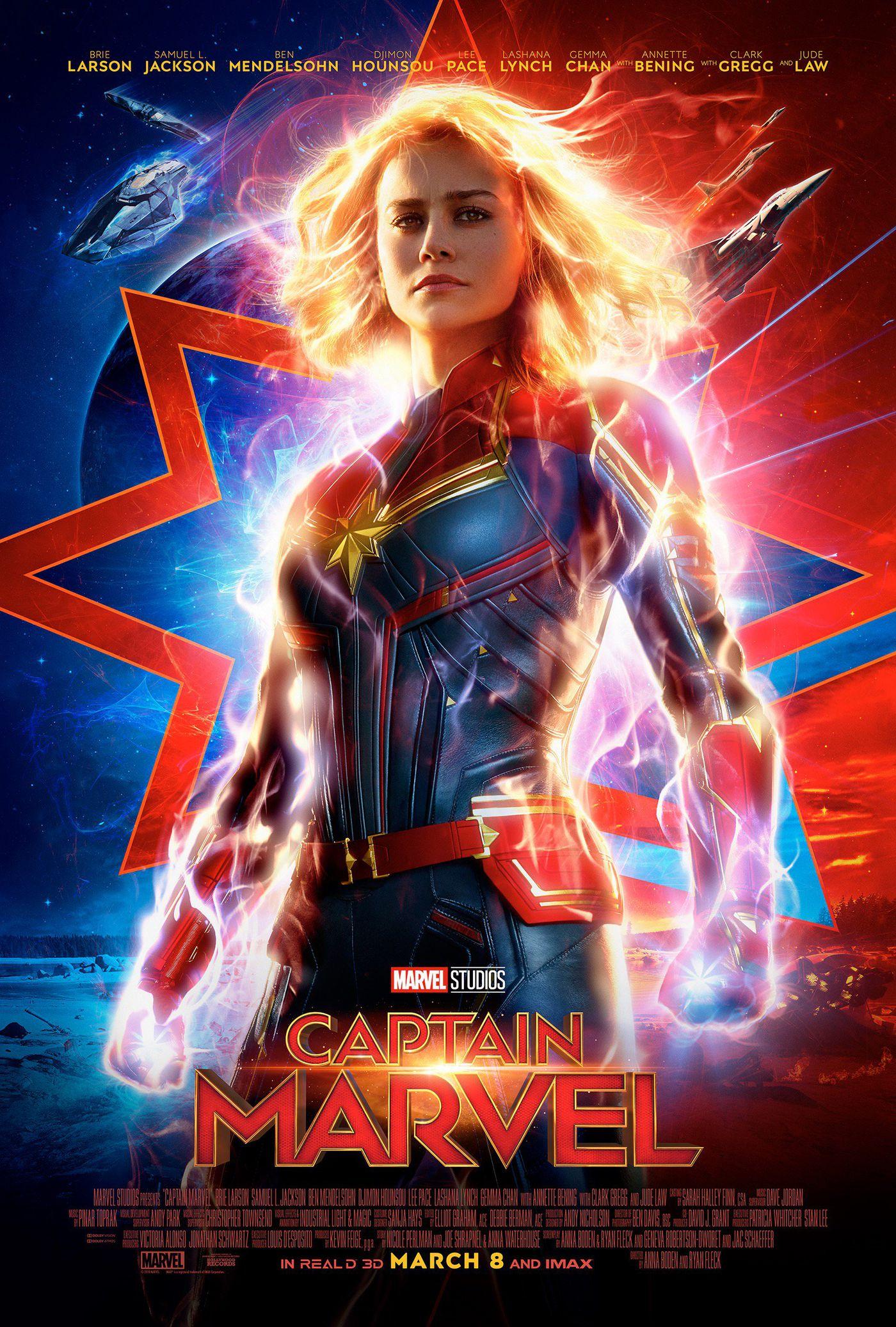 captain marvel poster arrives before new trailer, avengers 4 update
