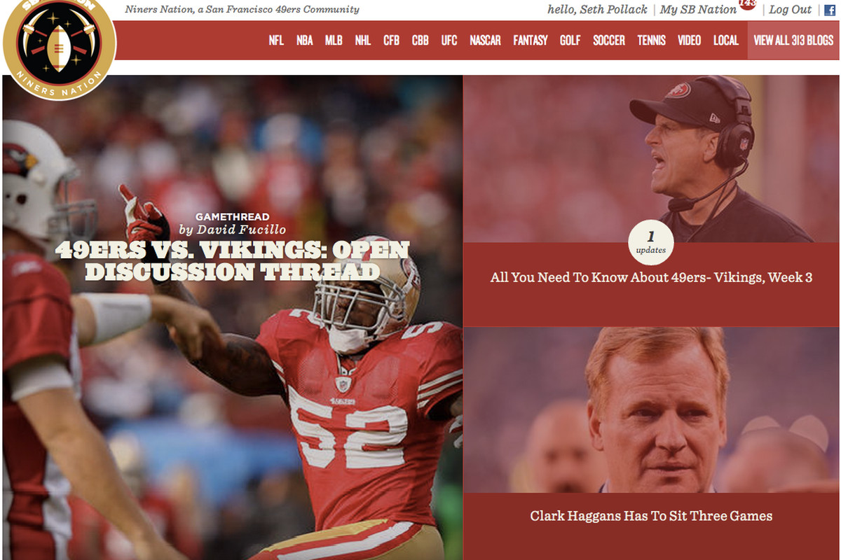 <strong>A sneak peak at a cover layout with the new SB Nation United.</strong>