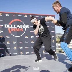 Jake Hager at the Bellator 214 open workouts at Viacom Hollywood HQ in Hollywood, Calif.