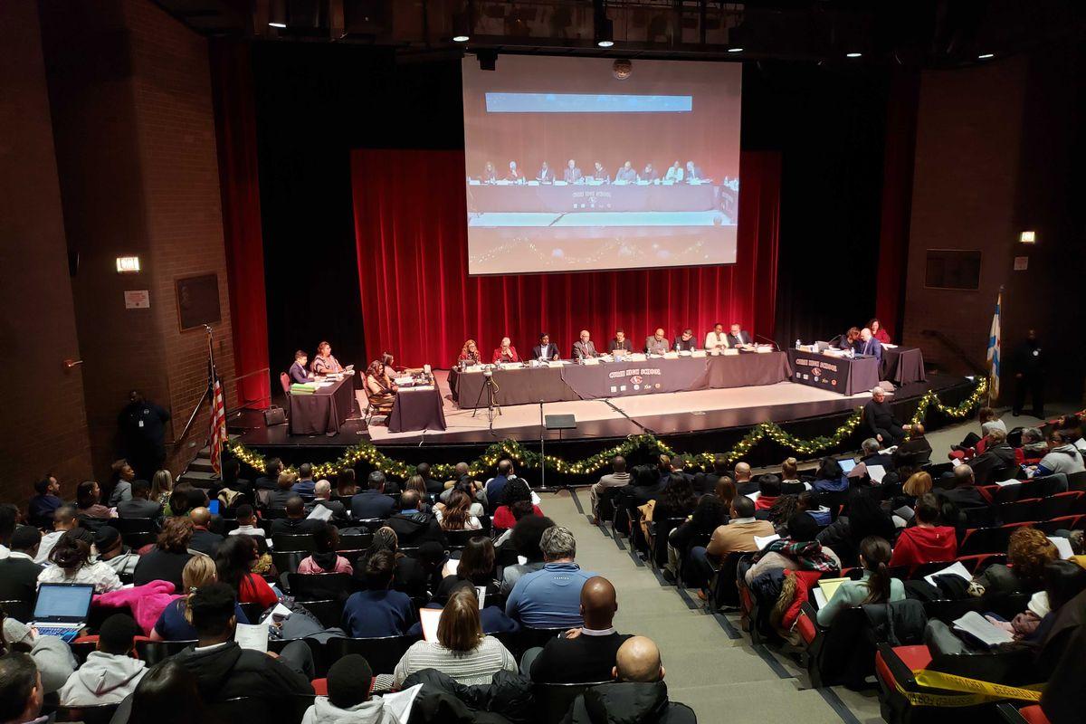 chicago school board meeting