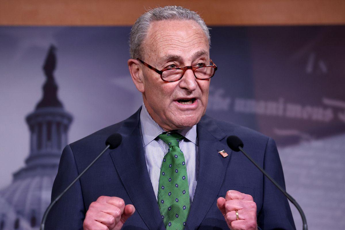 Democratic Senators Speak To The Media On Capitol Hill