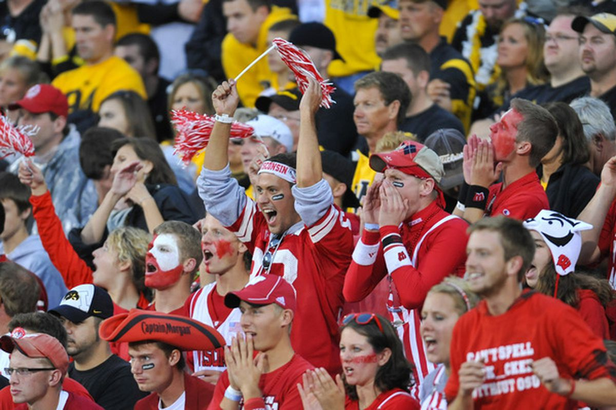 These fans could be headed to Pasadena for New Year's.(Photo by David Purdy/Getty Images).