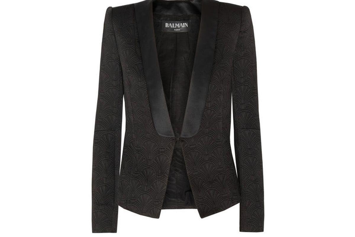 "<a href=""http://www.net-a-porter.com/product/373863"">Balmain jacket</a>, &amp;698.40 (was $2,910)"
