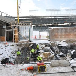 Another view of the work in the Gate Q area along Sheffield