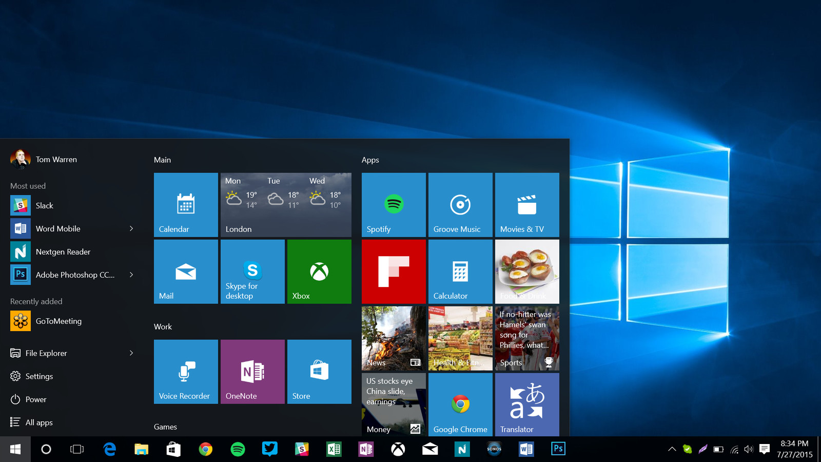 Microsoft is adding more ads to the windows 10 start menu for 10 x 40 window