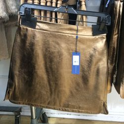 Leather mini skirt, size 0, $200 (was $398)