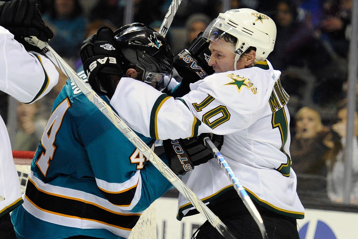 The captain was back fighting for his boys, but the Jamie Benn line was a pointless -2 in the game.