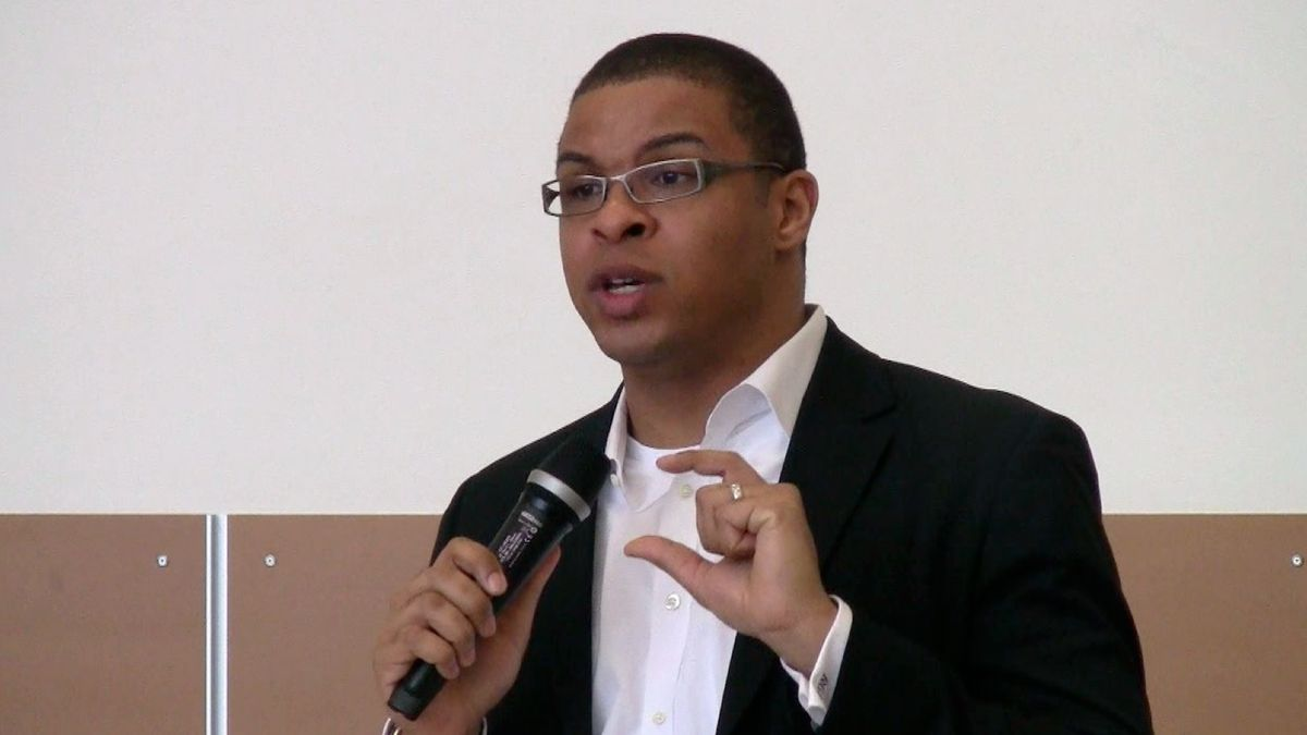 Roland Fryer, a Harvard professor who works with Blueprint, spoke in FNE Denver in March.