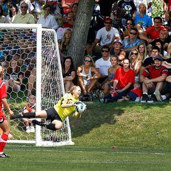 Lindsey Luke , University of Utah Soccer vs. BYU August 25, 2012 in Salt Lake City.  (Photo/Steve C. Wilson)