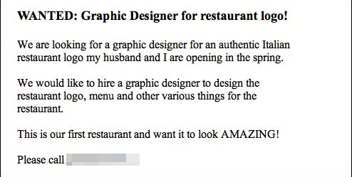 Graphic Designer Responds to Craigslist Ad by Texting a Series of