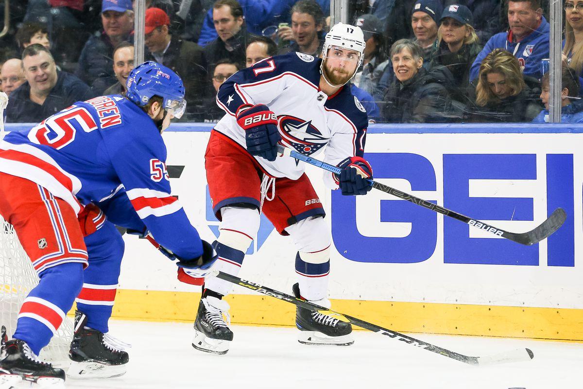 NHL: APR 05 Blue Jackets at Rangers