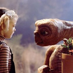 """Drew Barrymore and the title character of """"E.T. The Extra-Terrestrial"""" (1982), one of the 1980s Steven Spielberg films that served as an inspiration for the Netflix hit show """"Stranger Things."""""""