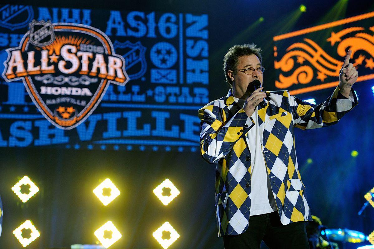 Singer Vince Gill starts off the festivities
