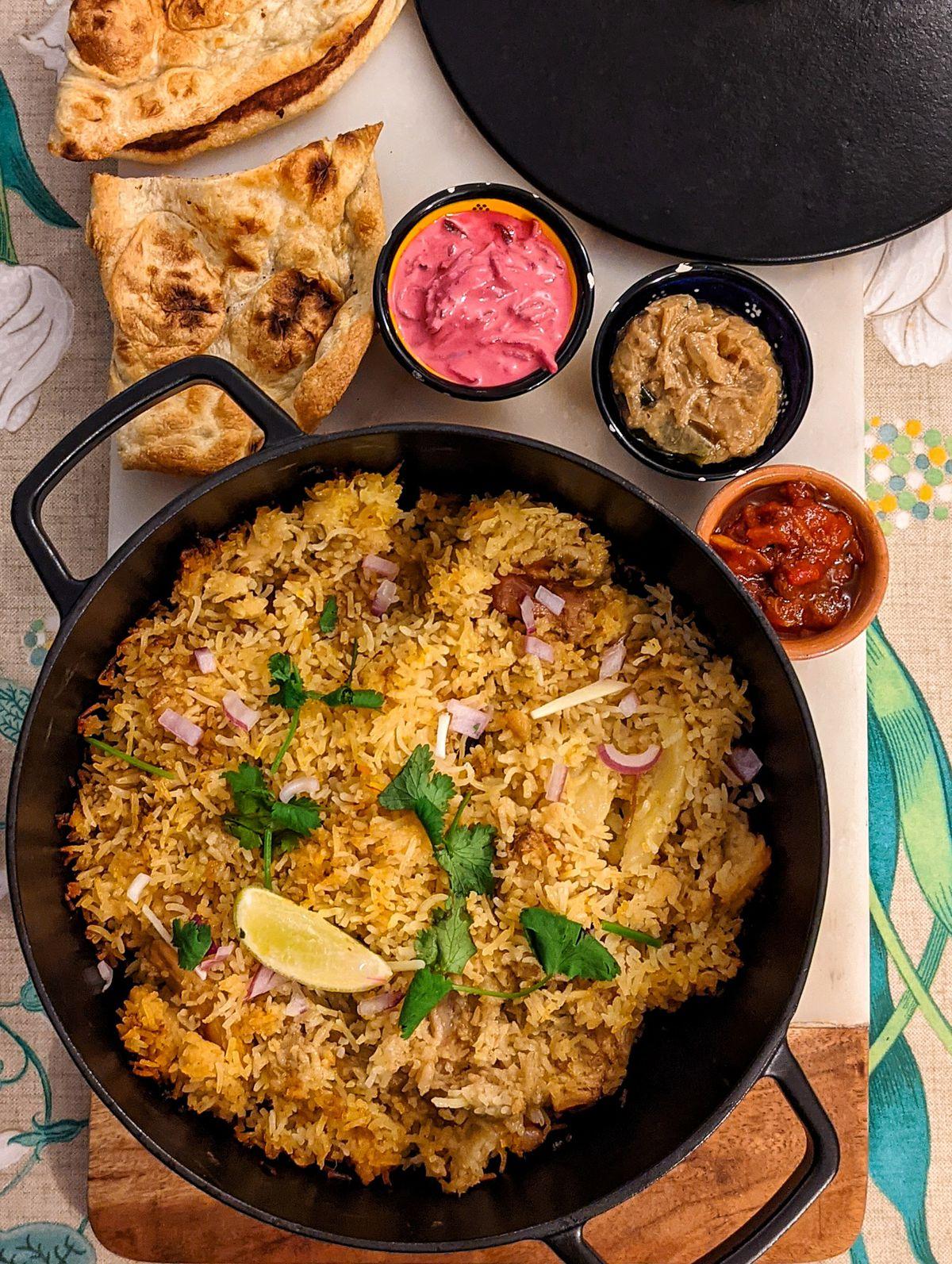 Darjeeling Express's biryani meal kit by chef Asma Khan