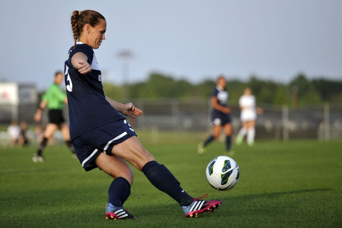 Sky Blue defender Christie Rampone shined in her NWSL debut on Sunday