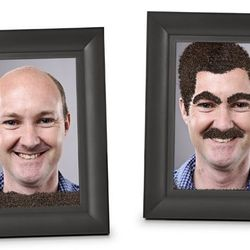 Fuzzy Face Photo Frame ($18) - It's your own personal Wooly Willy.