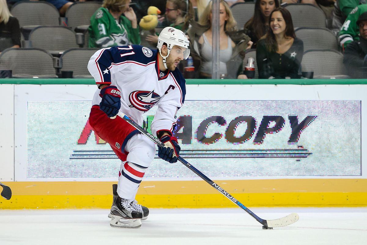 NHL: OCT 22 Blue Jackets at Stars