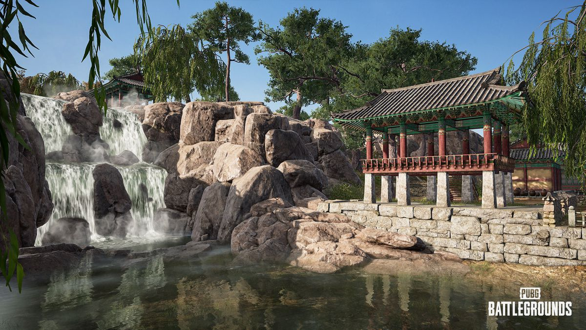 A small Korean village on PUBG's Taego map