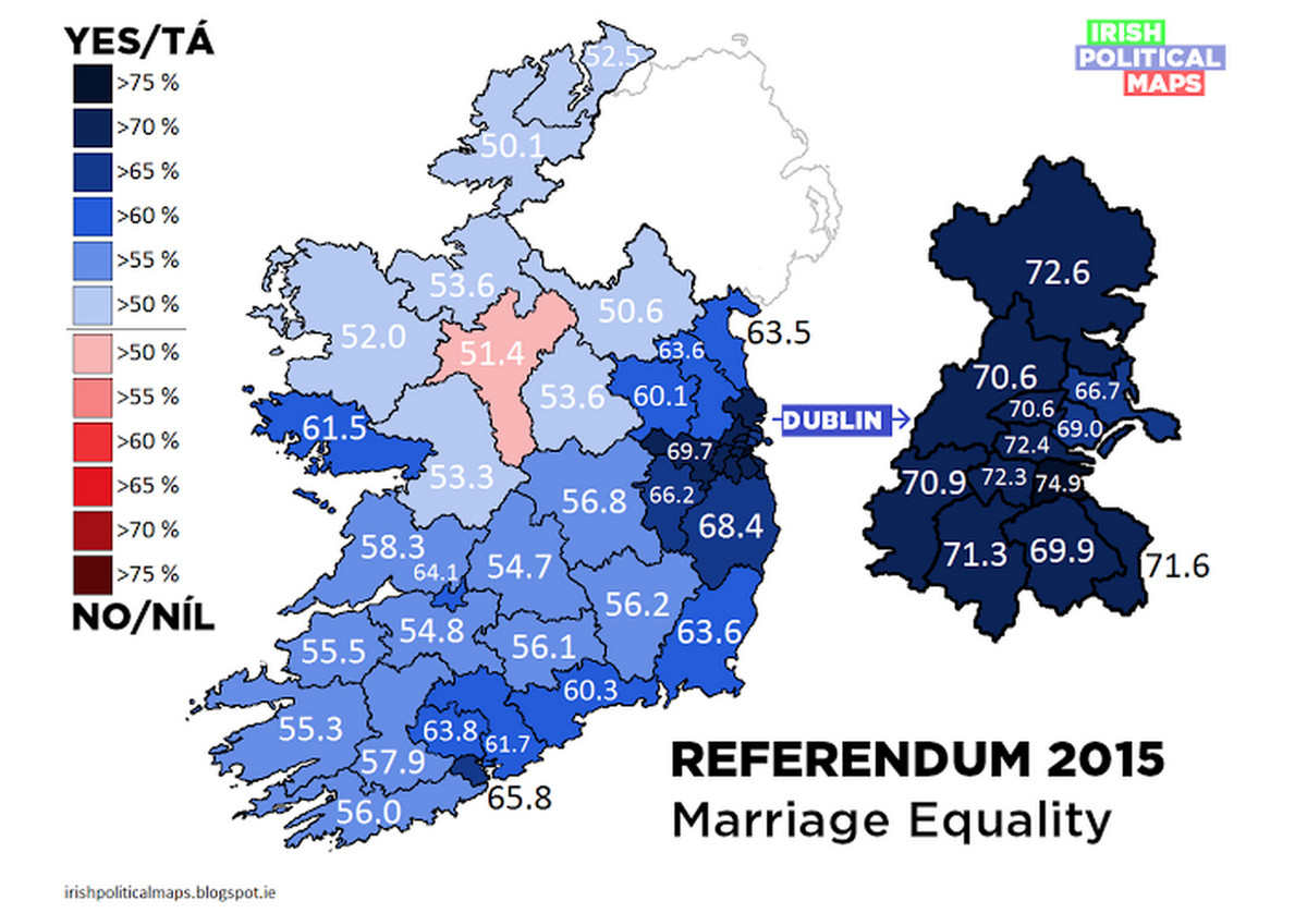 Support for marriage equality in Ireland was strikingly broad - Vox