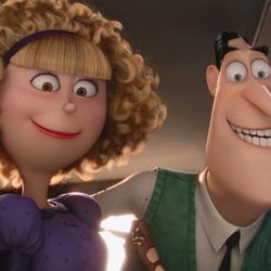 """Madge Nelson (Allison Janney) and her husband, Walter (Michael Keaton), are felons on the run in """"Minions."""""""