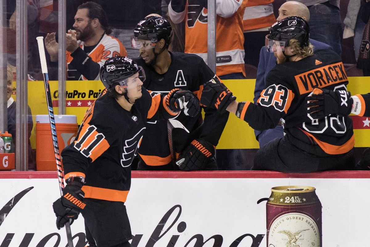 c202c39dd Flyers 5, Devils 2: Late goal by Voracek pushes Flyers to divisional win
