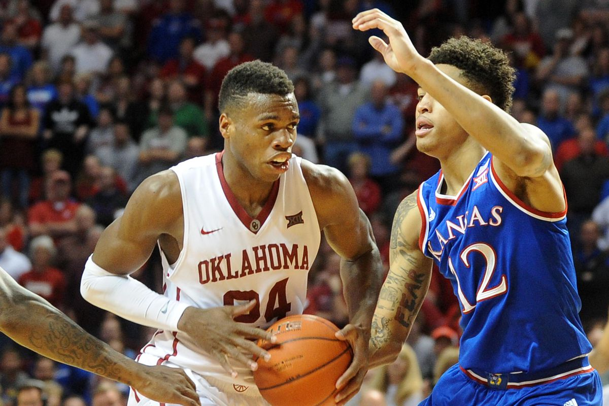 Buddy Hield drives against 2015 NBA Draft Pick Kelly Oubre