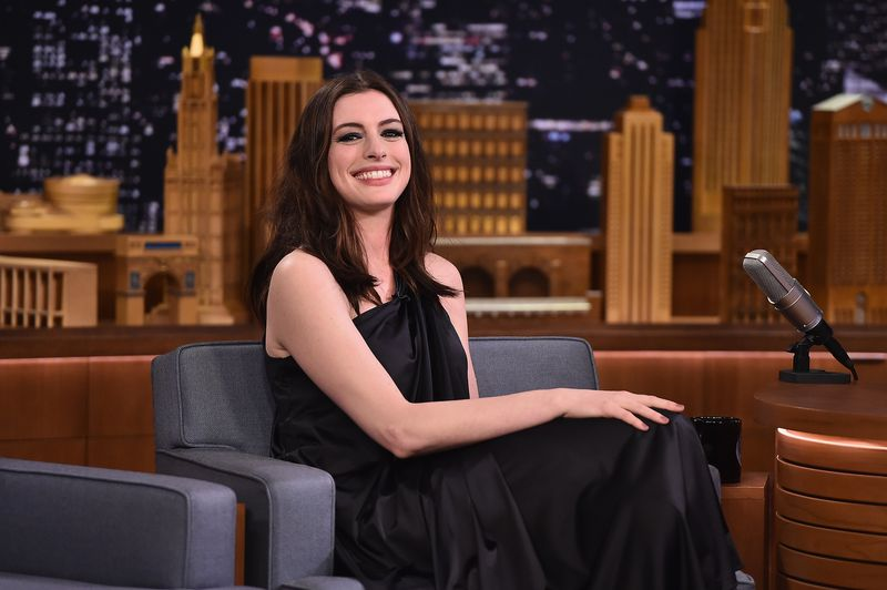 Anne Hathaway Visits 'The Tonight Show Starring Jimmy Fallon'