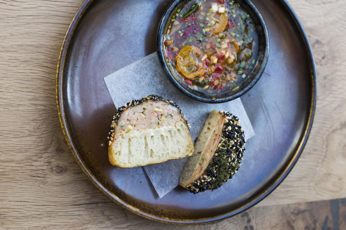 A lobster toast crumpet at Yotam Ottolenghi's Rovi, credited for boosting crumpet sales across the nation