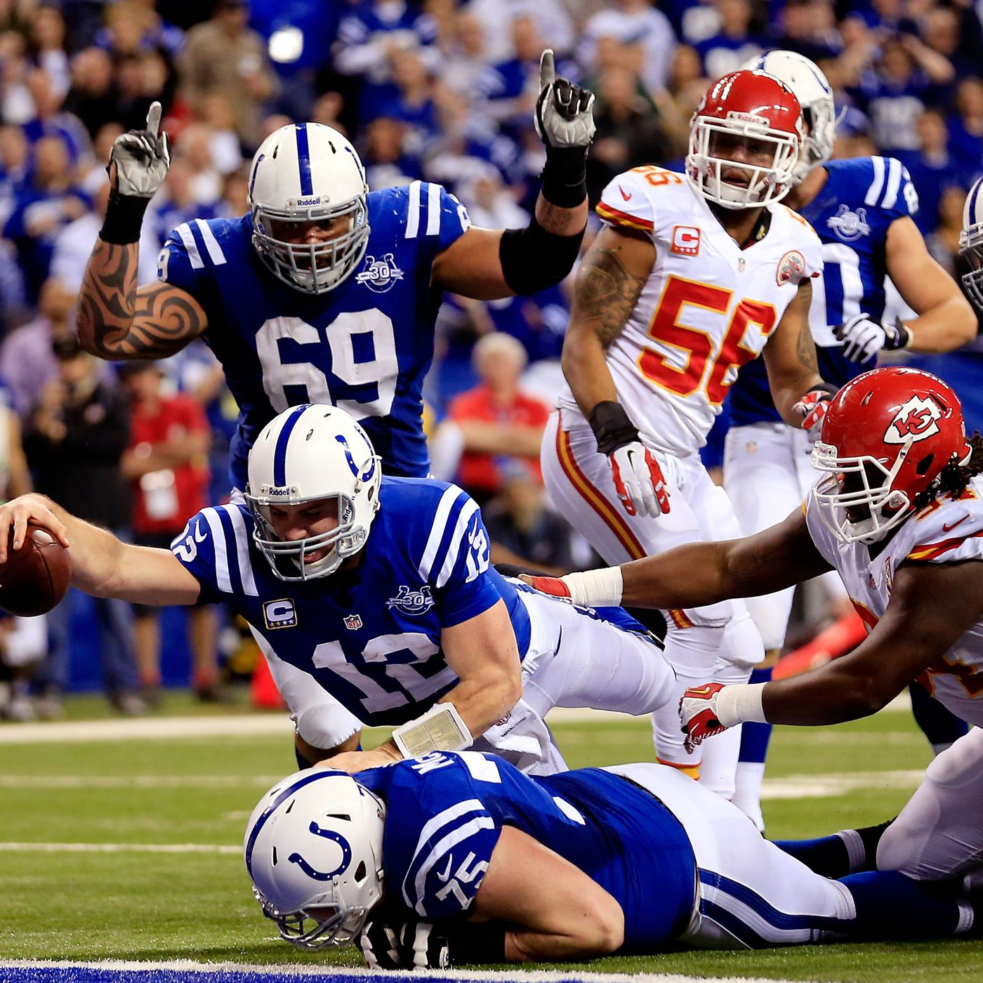 Colts Complete 2nd Largest Comeback In Nfl Playoff History Vs Chiefs Sbnation Com