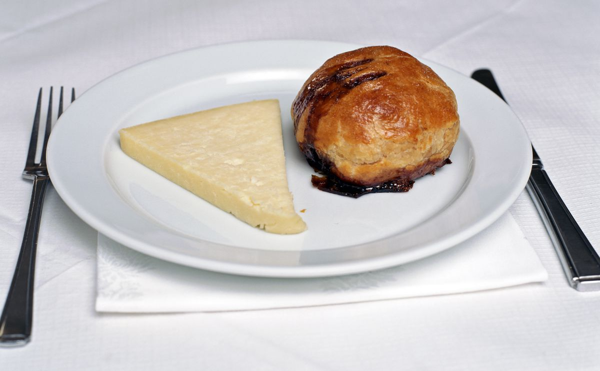 Eccles cake and Lancashire cheese at the new St. John Bakery to open in Neal's Yard, Covent Garden, London