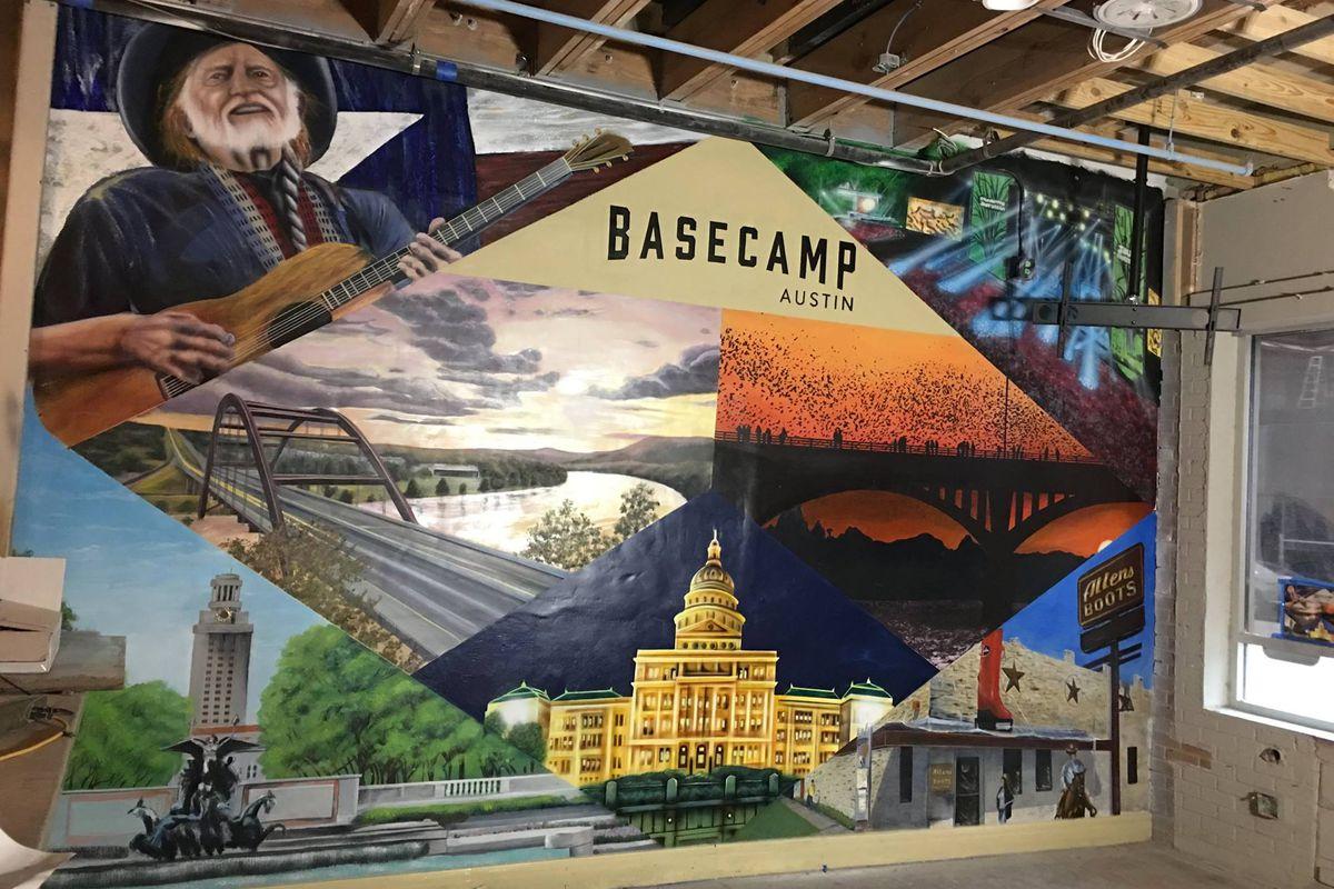 Basecamp's Austin mural