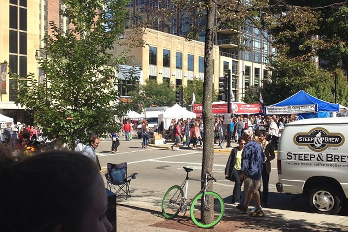 Top-50 recruit Cayla McMorris had a chance to enjoy a farmer's market while visiting the University of Wisconsin campus.