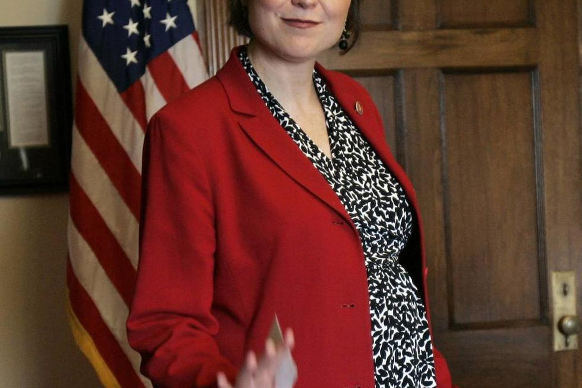 Pregnant Congresswoman Rep. Cathy McMorris Rodgers, R-Wash., 37, poses in her office in 2007. Some women still hold off on their career even though many organizations think that moms could make great managers.
