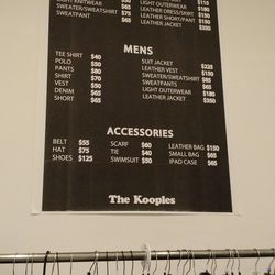 The price list