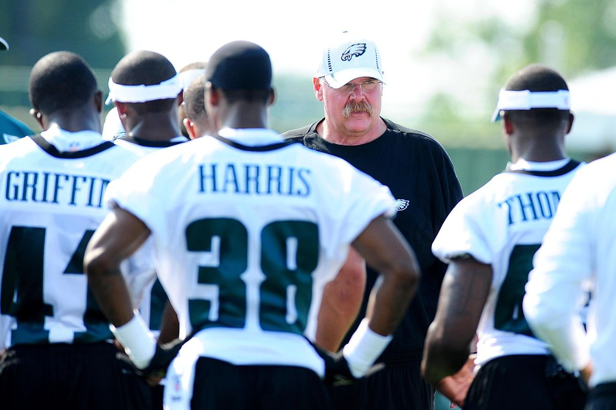 Philadelphia Eagles coach Andy Reid, here during training camp, is today dealing with the loss of his son, Garrett, who was found dead in his hotel room at the team's camp facility.