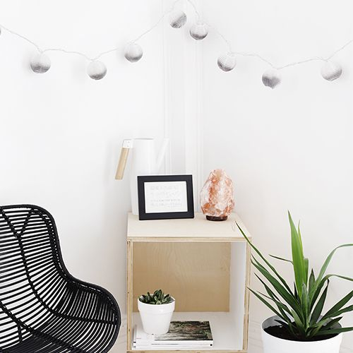 ombre string lights
