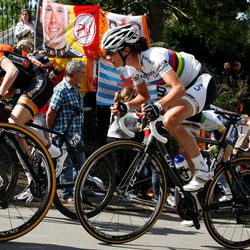Marianne Vos on the Mur de Huy